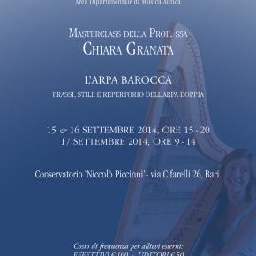 Chiara Granata: master class sull'arpa doppia – Intervista e spunti per un approfondimento