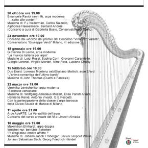 """Stagione di Concerti D'Arpa nel Teatro """"La Scala della Vita"""" (MI)"""