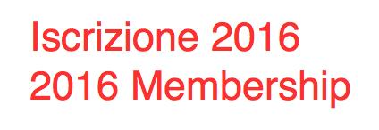 Iscrizione / Membership 2016
