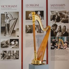 Piasco, la prima arpa di Victor Salvi esposta in museo
