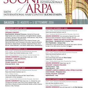 Il programma del Concorso e del Festival Suoni D'Arpa