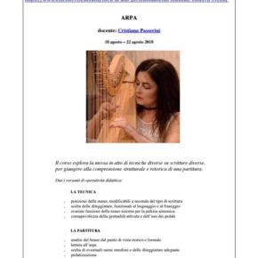 Masterclass di Cristiana Passerini