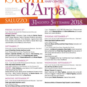 SUONI D'ARPA 2018: International Harp Contest e Festival