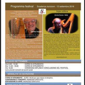 Nuovi corsi per la celtica e la musicoterapia con arpa
