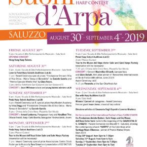 SUONI D'ARPA 2019: grande partecipazione! General timetable