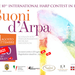 "The 10th International Harp Contest in Italy ""Suoni d'Arpa"" will take place in 2021"