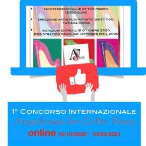 """Primo Concorso Internazionale online for Celtic Harp """"Arpademia"""""""