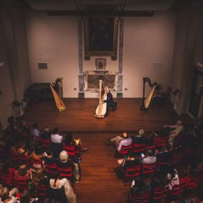 """Harpists from 16 countries in the """"Suoni d'Arpa"""" contest 2021"""